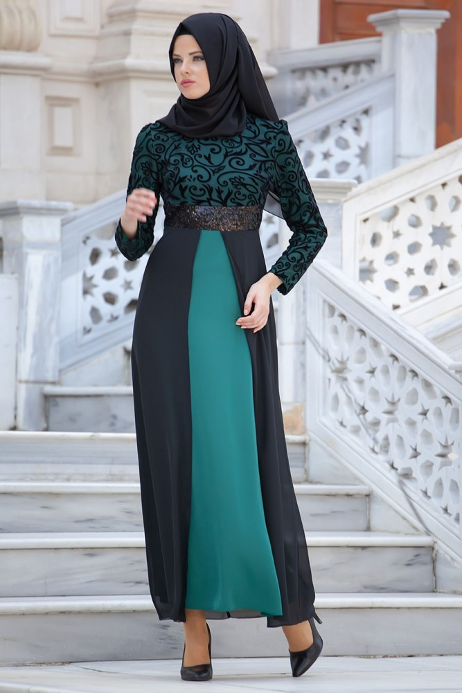 Nayla Black Mint Dress Brazeedah